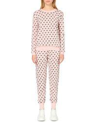 Markus Lupfer | Pink Lip-print Merino Wool Jogging Bottoms | Lyst