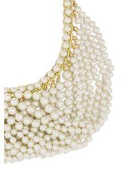 BaubleBar - White Draped Pearl Bib - Lyst