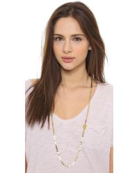 Phyllis + Rosie | Metallic The Linett Necklace - Gold | Lyst
