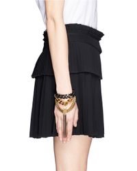 Ela Stone | Metallic Anita Layer Chain Fringe Bracelet | Lyst