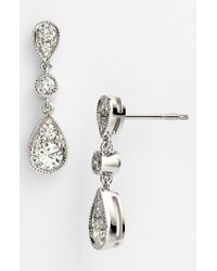 Kwiat | White 'sunburst' Diamond Drop Earrings | Lyst