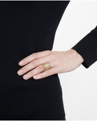 Maria Black - Metallic Yellow Gold-plated De-con Ring - Lyst