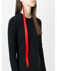 MM6 by Maison Martin Margiela - Red Extra Long Earring - Lyst