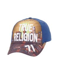 True Religion - Blue 'la Skyline' Ball Cap for Men - Lyst