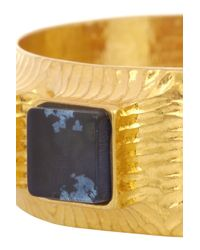 Vionnet - Blue Gold-Plated Resin Cuff - Lyst