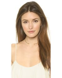 Vanessa Mooney | Metallic The Single Choker Necklace - Gold | Lyst