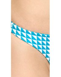 Mikoh Swimwear - Blue Miyako Basic Skimpy Bikini Bottoms - Native Oceanic - Lyst