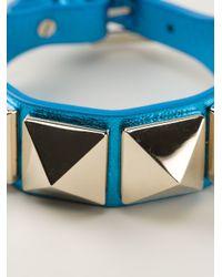 Valentino - Blue Rock Stud Bracelet - Lyst
