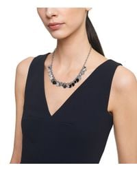 Tory Burch - Metallic Logo Charm Short Necklace - Lyst