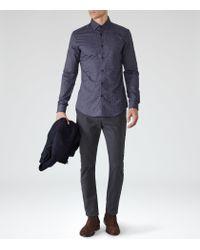 Reiss | Blue Shelter Cotton Trousers for Men | Lyst