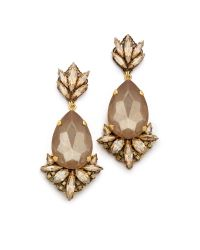 Erickson Beamon - Brown Cosmic Code Statement Earrings Nude - Lyst