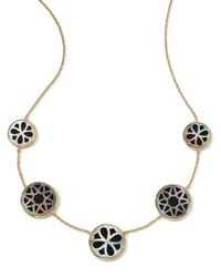 Ippolita | Metallic 18K Gold Polished Rock Candy Cutout Stone 5-Station Necklace In Phantom | Lyst