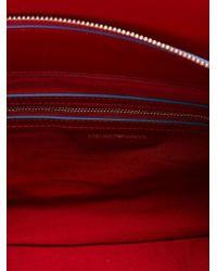 Emporio Armani   Red Classic Shopper Tote   Lyst