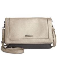 Rampage | Metallic Foldover Crossbody Clutch | Lyst