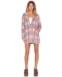 MINKPINK - Multicolor Not So Plaid Coat - Lyst