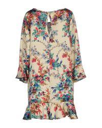 Shirtaporter - Natural Short Dress - Lyst