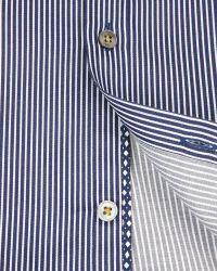 Ted Baker - Blue Verticl Satin Stripe Shirt for Men - Lyst