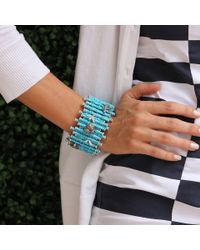 Wendy Yue - Blue Turquoise Diamond Bamboo Cuff - Lyst