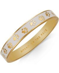 kate spade new york | Metallic Gold-tone Ahead Of The Pack Hinge Bangle Bracelet | Lyst