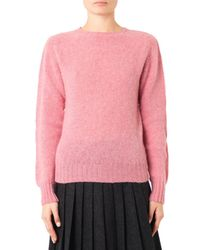 YMC - Pink Wool Sweater - Lyst