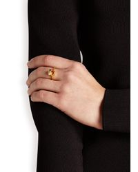 Daisy Knights | Metallic Little Shark 22kt Gold-plated Ring | Lyst
