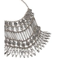 Forever 21 - Metallic Etched Rhinestone Statement Necklace - Lyst