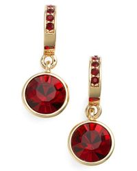 Givenchy - Red Jeweled Drop Earrings - Lyst