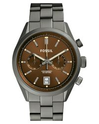 Fossil - Gray 'Del Rey' Chronograph Bracelet Watch - Lyst