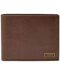Fossil - Brown Omega Passcase Leather Wallet for Men - Lyst