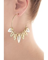 Aurelie Bidermann - Metallic Aurélie Bidermann Thalita 18kt Gold Plated Earrings With Mother Of Pearl - Lyst