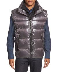 Sam. | Gray Racer Down Vest With Inset Bib for Men | Lyst