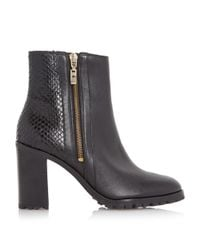 Dune - Black Prett Cleated Sole Ankle Boot - Lyst