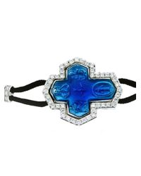 Pippo Perez | Blue Diamond Cross Bracelet | Lyst