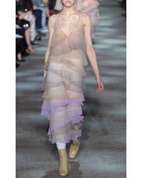 Marc Jacobs - Purple Crinkle Organza Vneck Dress - Lyst