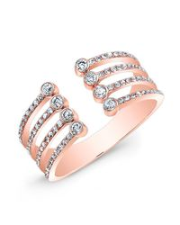 Anne Sisteron | Pink 14kt Rose Gold Diamond Electric Ring | Lyst