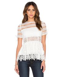 Alexis - White Juliana Top - Lyst