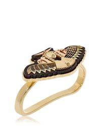 Ledaotto - Metallic Meydan Hand Bracelet - Lyst