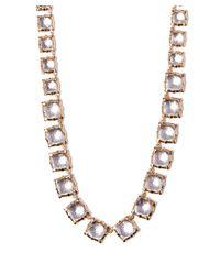 Larkspur & Hawk - Long Light Pink Quartz Bella Graduated Riviere Necklace - Lyst