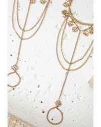 Forever 21 | Metallic Diamond Charm Foot Chain Set | Lyst