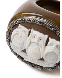 Amedeo | Brown Three Owls Ring | Lyst