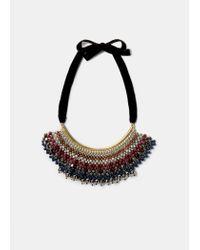 Violeta by Mango | Metallic Mixed Bead Necklace | Lyst