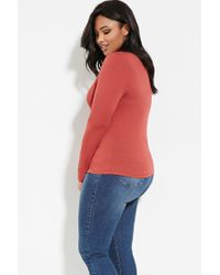 Forever 21 - Red Plus Size Mock Neck Top - Lyst