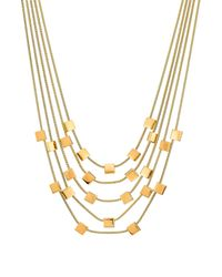 Diane von Furstenberg | Metallic Gold Plated Necklace - Gold | Lyst