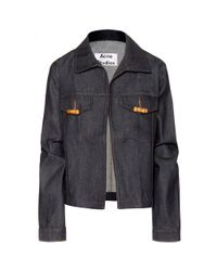 Acne Studios | Blue North Raw Denim Jacket | Lyst
