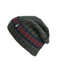 Barbour | Green 'crathes' Knit Lambswool Hat for Men | Lyst