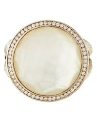 Ippolita - Metallic Silver Mother Of Pearl And Diamond Stella Lollipop Ring - Lyst
