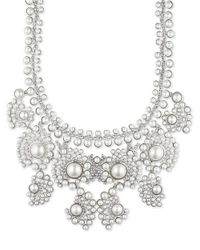 Givenchy | Metallic Faux Pearl Statement Necklace | Lyst