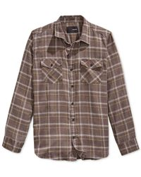 Hurley | Brown Pitfire Plaid Flannel Button-front Shirt for Men | Lyst