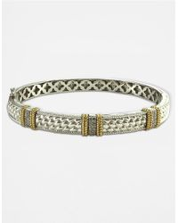 Lord & Taylor | Metallic Sterling Silver And 14k Gold Diamond Pave Bracelet | Lyst