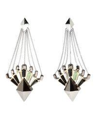 Eddie Borgo - Metallic Horus Drop Earring - Lyst